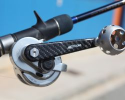 TRYGONS carbon-fiber fishing reel handle